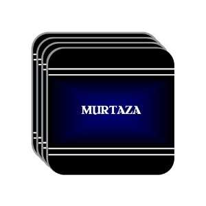 Personal Name Gift   MURTAZA Set of 4 Mini Mousepad Coasters (black
