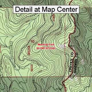 USGS Topographic Quadrangle Map   Mantrap Fork, Montana