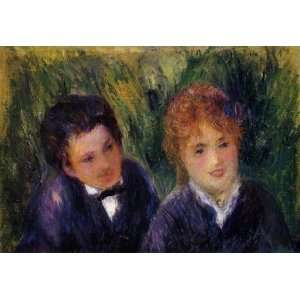 Oil Painting Young Man and Young Woman Pierre Auguste