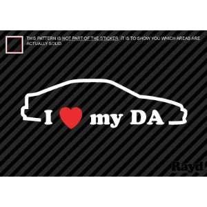I Love my DA   Sticker #2   Decal   Die Cut