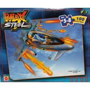 Max Steel 100 Piece Puzzle   MX25 Attack Jet Vehicle Toys & Games