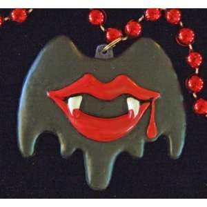 Vampire Vampyre Halloween Bat Fangs Lips Blood Mardi Gras