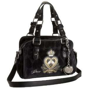 Juicy Couture Fashion Velour Heart Jacquard Mini Satchel