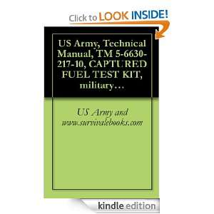 US Army, Technical Manual, TM 5 6630 217 10, CAPTURED FUEL TEST KIT