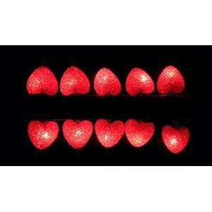 Valentines Day HEART sparkle STRING LIGHTS indoor/out