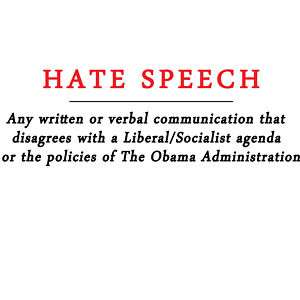 Anti Obama HATE SPEECH Conservative T Shirt