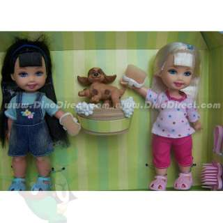 Wholesale Cute Clothing Barbie & Little Kelly Dolls Toys Set 2Pcs