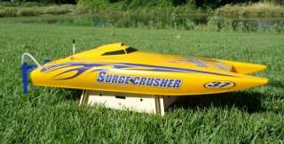 Crusher Electric Fiberglass Speed Boat RC RTR Catamaran Racing