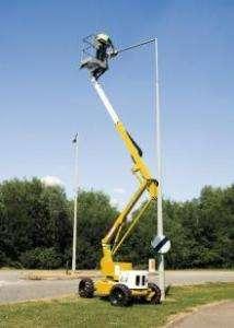 4X4 Rough Terrain Boom Lift,56 Height,31 Outreach,Weighs 13,550 lbs