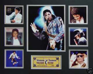 MICHAEL JACKSON MUSIC LIMITED EDITION MEMORABILIA FRAME