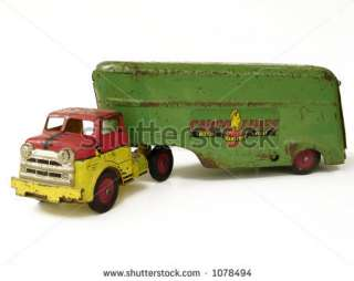 Antique Toy Semi Truck Stock Photo 1078494 : Shutterstock