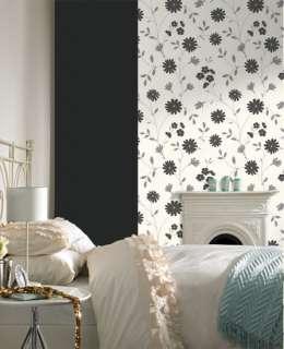 19673 Superfresco Colours Belle Black,White Floral,Trail Wallpaper