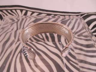 Premier Designs Jewelry Silver Weave Cuff Bracelet Retired