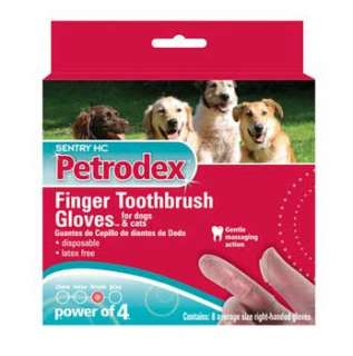 St.Jon Pet Care   Virbac   DSJ53051 Petrodex Finger Brush Glove 8 Pack