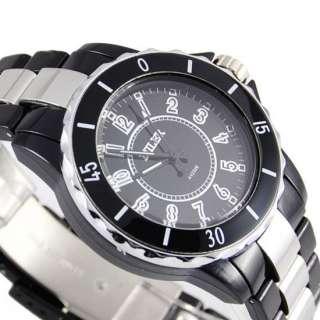 Trendy Black quartz mens women lady wristwatch Fashion Luxury free