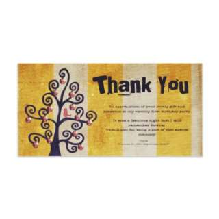 Thank You for Gift 21st Birthday Party Photocard Customized Photo Card