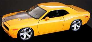 Dodge Challenger Diecast Model 118 Yellow 2006 2011 style body Brand