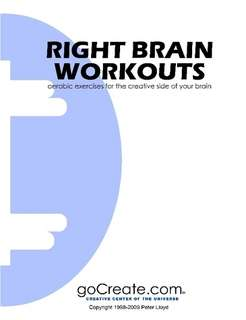 Right Brain Workouts The Book by Peter Lloyd in Self Improvement