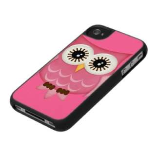 Pink Owl iPhone 4 Case Cover by SPECK by OwlsOwls