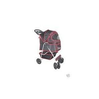 Classic Black 4 Wheel Pet Stroller by BestPet