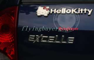 3D Decal Emblem 3M Metal Auto Car Sticker Hello Kitty