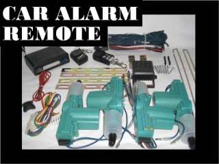 Car Alarm Remote & Full Set Central Locking Kit 4 Doors