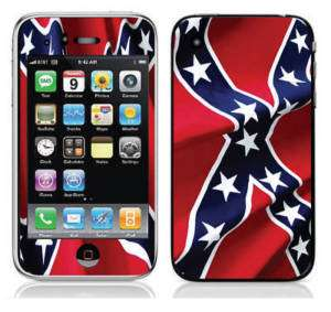 Apple iPhone 3G 3Gs Skin Cover Case Sticker Rebel Flag