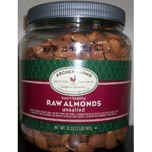 Archer Farms Raw Almonds Unsalted   32 Oz Jar  Grocery