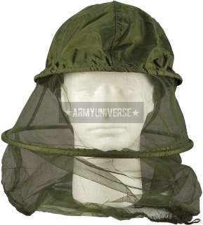 Olive Drab Military Mosquito Hoop Insect Repellent Head Net (Item