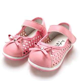 Fashion Soft Toddler Kids baby girls Princess Pink Bow shoes Size:US