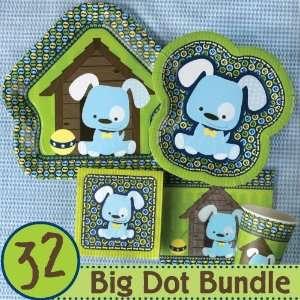 Boy Puppy Dog Baby Shower Tableware   32 Big Dot Bundle