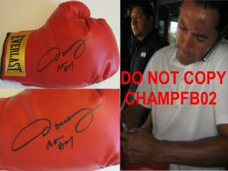 ,SIGNED,AUTOGRAPHED,EVERLAST,BOXING GLOVE,GOLEN BOY,COA,PROOF.