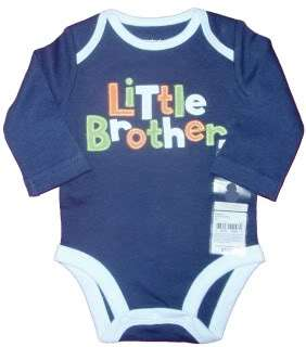 little brother navy with blue green orange letter has little brother