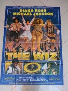The Wiz ORIGINAL MOVIE POSTER 1978 Michael Jackson , Diana Ross , Lena