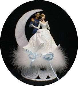CINDERELLA Disney Wedding Cake Topper Glasses, Knife, server, Garter