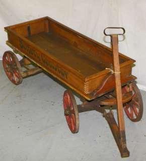 Antique Wood Spoke Wheel wooden Coaster Wagon