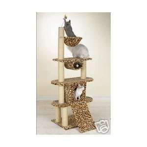 Meow Town Leopards Den Kitty Cat Condo Tower 75 H