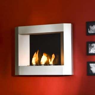SEI Silver Modern Wall Mount Gel Fuel Fireplace FA5806
