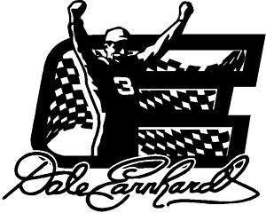 Dale Earnhardt Victory Car Window Wall sticker decal