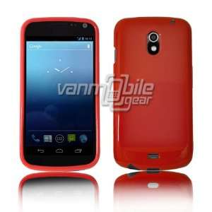 Samsung Galaxy Nexus i515 SOLID TPU Skin Case Cover   RED SOLID COLOR