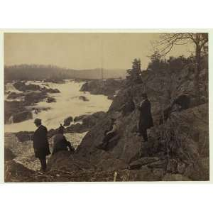 Great Falls,Potomac River,VA,men,1864,Andrew Russell