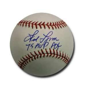 Autographed Fred Lynn MLB Baseball Inscribed ROY/MVP