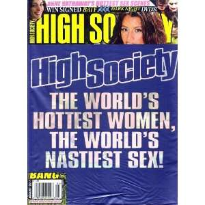 AUGUST 2011 LUPE FUENTES, JAMIE HAMMER: HIGH SOCIETY MAGAZINE: Books