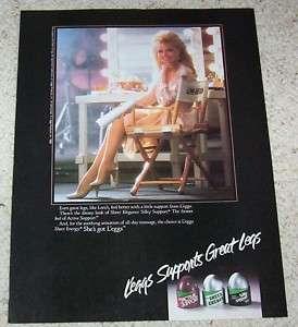 1988 ad Leggs pantyhose hosiery leggs LONI ANDERSON ad