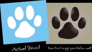 Stencil Paw Print Dog Cat Puppy Pet decor Wall Art Sign