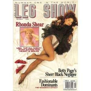 LEG SHOW MAGAZINE AUGUST 1993 RHONDA SHEAR: LEG SHOW: Books