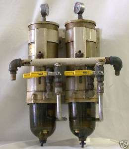 Double Racor Marine Diesel Fuel Filter/Separator