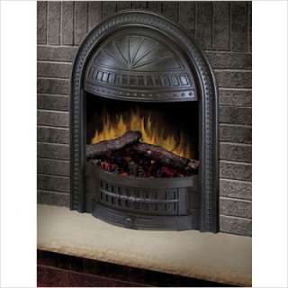 Dimplex 23 Deluxe Electric Fireplace Insert w Cast Hooded Trim ETP 23