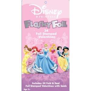 Disney Princess Flashy Foil Valentine Cards Office