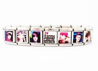 LOVE JUSTIN BIEBER Italian style Charm Bracelet